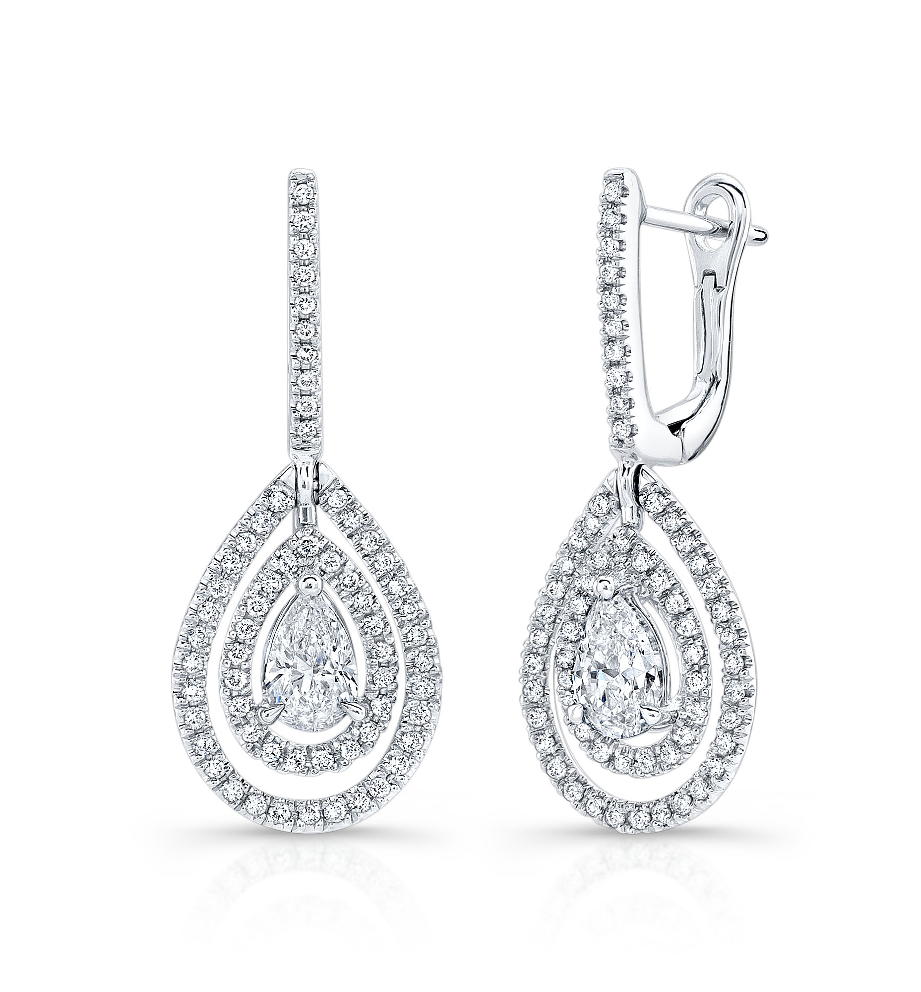 z earrings diamond pear classic shaped silver collette c sterling product